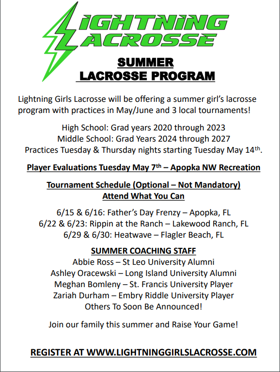 LBHS Girls Lacrosse Summer Program