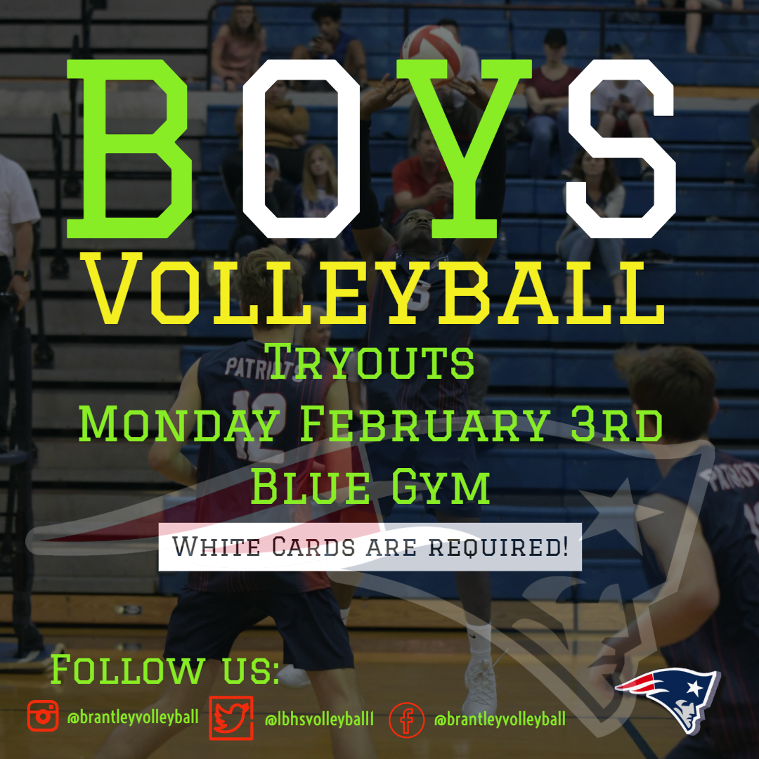 Boys Volleyball Conditioning & Tryouts Info